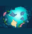 sea underwater background vector image