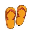 Isolated sandals design vector image