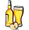 apple cider bottle vector image vector image