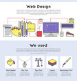 colorful linear web design concept vector image