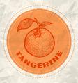 tangerine vintage paper vector image