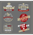 Retro vintage badge design for poster vector image
