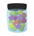 Paintball balls in a jar vector image