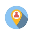 Location people flat icon vector image
