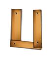 wooden type u vector image vector image