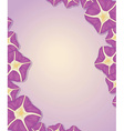 Flower template vector image