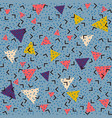 abstract pattern blue background with pink yellow vector image