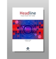 Blue red cover design with HUD and futuristic vector image