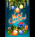Christmas Card Template with Christmas Decorations vector image