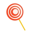 Red lollipop sweet dessert vector image