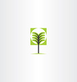 tree sign icon element vector image