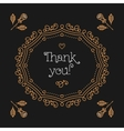Art Deco background Lettering Thank you vector image