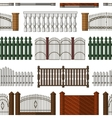 Set of gates and fences pattern vector image