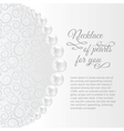 Perls on a white background vector image vector image
