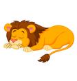 Lion cartoon sleeping vector image vector image