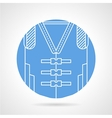 Blue icon for life jacket vector image