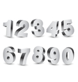 Three-dimensional Numbers vector image vector image