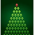 arrow christmas tree business theme vector image vector image