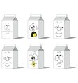 Set smiling paper packs 014 vector image