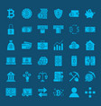 bitcoin glyphs website icons vector image