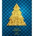 Christmas gold Greeting Card vector image