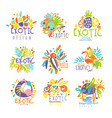 exotic tropical summer vacation set of logo vector image