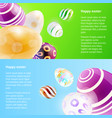 horizontal banners with easter eggs vector image