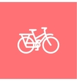 Mountain Bike Icon on a pink background high vector image