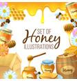 set of honey vector image