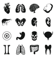 Human organs icons set simple style vector image