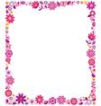 floral border frame background vector image vector image