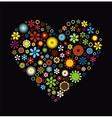 Flowers Heart vector image vector image