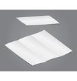 Blank folding vector image vector image