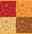 barbecue grill pattern vector image vector image