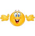 hug emoticon vector image