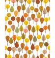 autumn woods vector image
