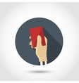 Red card flat icon vector image