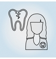 professional dentist design vector image