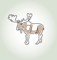 Moose in minimal line style vector image vector image