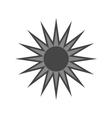 Black design element Light sign sun vector image