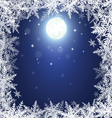 Christmas snowflakes and moon vector image