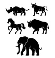 Five Power Animals vector image