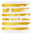 gold yellow paint textured abstract brushes vector image