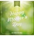 Mothers day background EPS 10 vector image