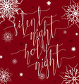 Silent night Holy night vector image