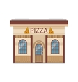 Pizza Restaurant Commercial Building Facade Design vector image