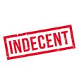 Indecent rubber stamp vector image