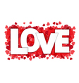 Love paper style on red heart confetti vector image