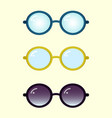 colorful glasses set vector image