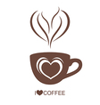 Coffee cup with heart vector image